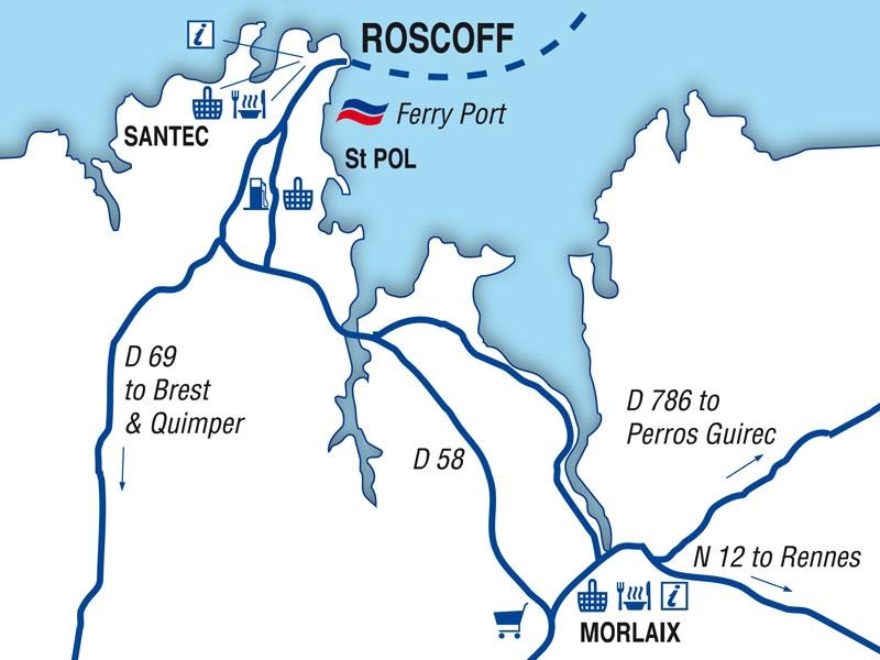 Guide Du Port De Roscoff Brittany Ferries