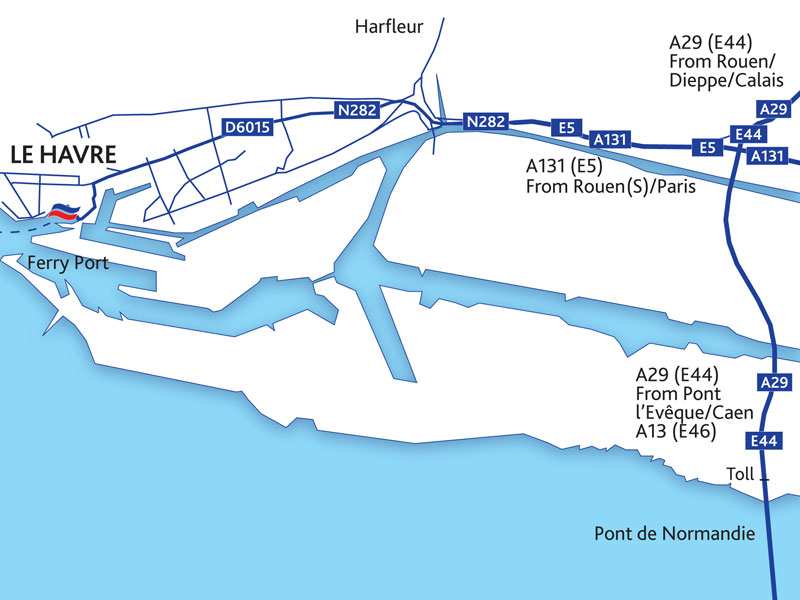 Portsmouth To Le Havre Ferry >> Guide du port du Havre - Brittany Ferries